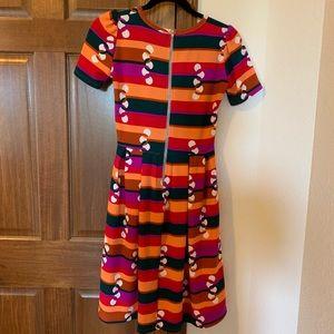 LuLaRoe Dresses - Striped Amelia Dress